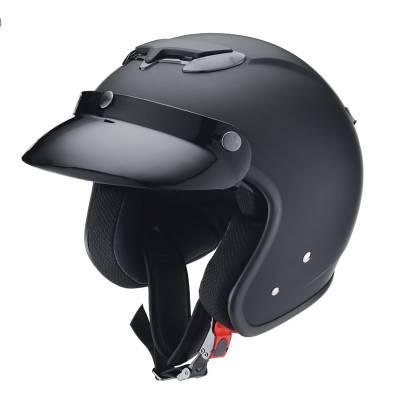 iXS Helm HX 87  cafe rider, schwarz matt