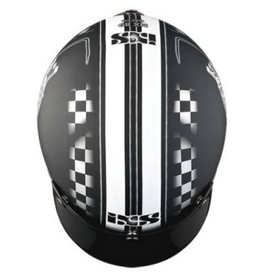iXS Helm HX 89 Racer, schwarz-weiß matt