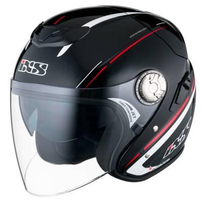 iXS Helm HX 91 Boost, schwarz-rot-weiß
