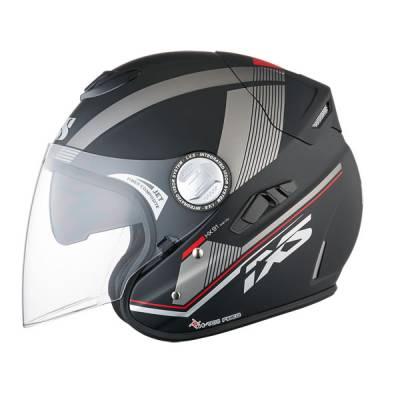 iXS Helm HX 91 Inner City, schwarz-silber matt