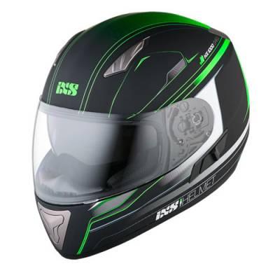 iXS Helm HX1000 Fork, schwarz-gruen matt