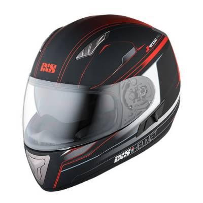 iXS Helm HX1000 Fork, schwarz-rot matt