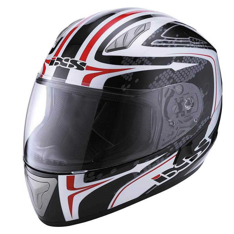 iXS Helm HX1000 Ride, schwarz-weiß-rot