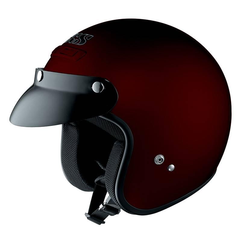 iXS Helm HX104, bordeaux-rot