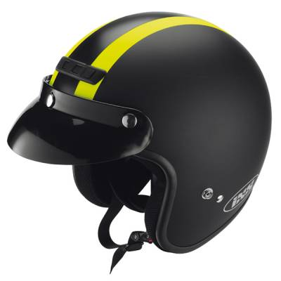 iXS Helm HX105, schwarz-gelb matt