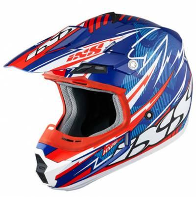 iXS Helm HX261 Thunder, blau-rot-weiß