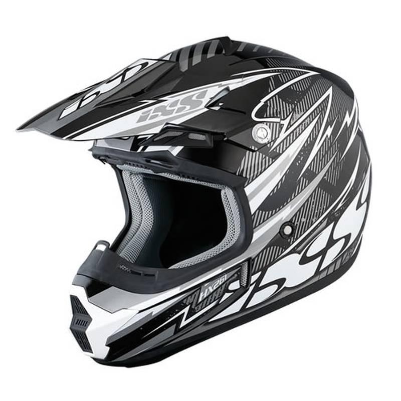 iXS Helm HX261 Thunder, schwarz-weiß-silber