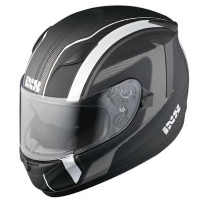 iXS Helm HX420 Easy, schwarz-silber-matt