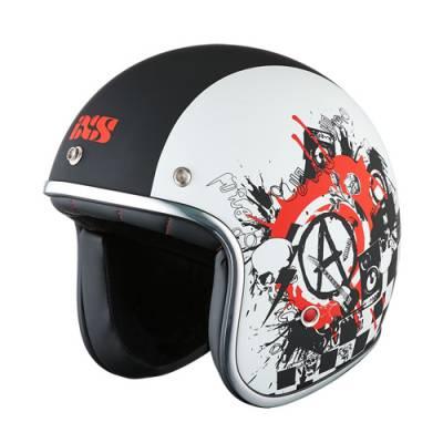 iXS Helm HX89 Sound, schwarz-weiß matt