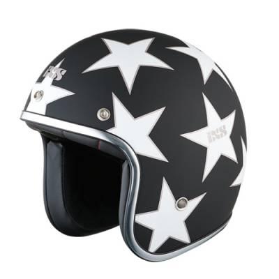 iXS Helm HX89 Star II, schwarz-weiß matt