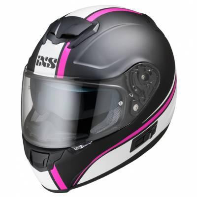 iXS Helm iXS-215 2.1, schwarz-weiß-pink matt