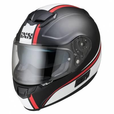 iXS Helm iXS-215 2.1, schwarz-weiß-rot matt