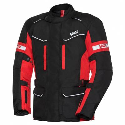 iXS Herren Textiljacke Evans-ST, schwarz-rot