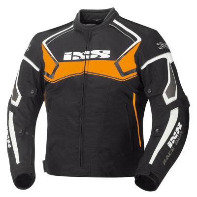 iXS Jacke Activo, schwarz-orange-weiß