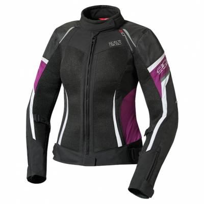 iXS Jacke Andorra, schwarz-pink-weiß
