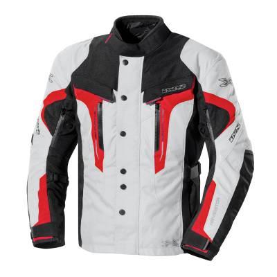 iXS Jacke Navigator, grau-schwarz-rot