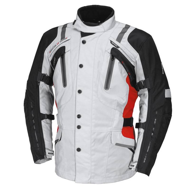 iXS Jacke Nimrod GTX, grau-schwarz-rot