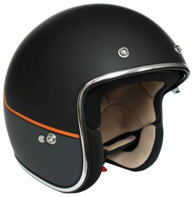 iXS Jethelm iXS-77 2.2, schwarz-grau-orange matt