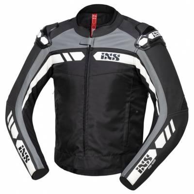 iXS Lederjacke RS-500 1.0, schwarz-grau-weiß