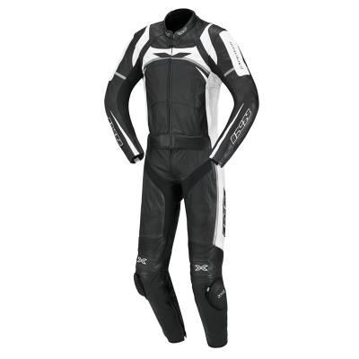 iXS Lederkombi Camaro, schwarz-weiß-silber