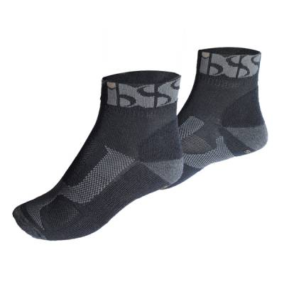 iXS Socken Sports short, schwarz-grau