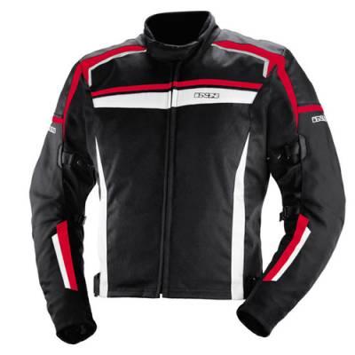iXS Textiljacke Alloy, schwarz-rot-weiß (B-Ware)