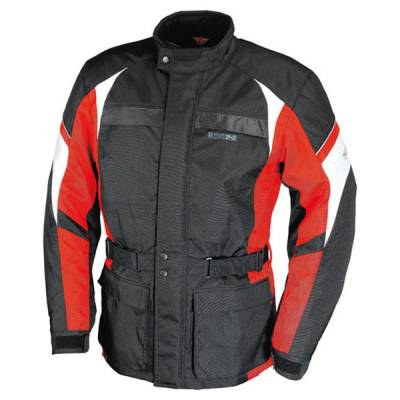 iXS Textiljacke Evasion, schwarz-rot-weiß (B-Ware)