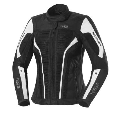 iXS Textiljacke Larissa, schwarz-weiß