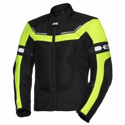 iXS Textiljacke  Levante 2.0, schwarz-fluogelb