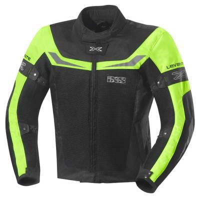 iXS Textiljacke  Levante, schwarz-fluogelb