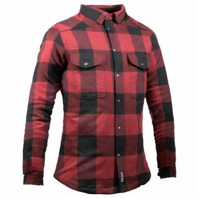 John Doe Hemd Motoshirt Damen, schwarz-rot