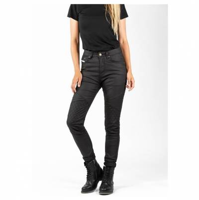 John Doe Jeggings Betty Biker schwarz