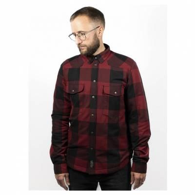 John Doe Motoshirt, rot-schwarz