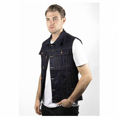 John Doe Weste Denim Raw Vest, blau