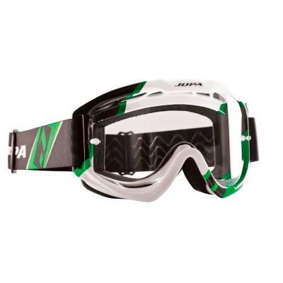 Jopa Crossbrille Venom II, schwarz-weiß-grün