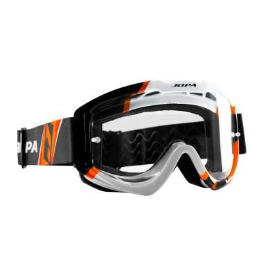 Jopa Crossbrille Venom II, schwarz-weiß-orange