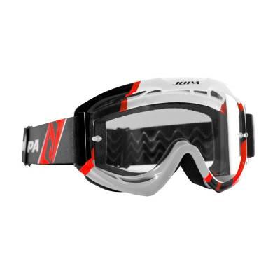 Jopa Crossbrille Venom II, schwarz-weiß-rot