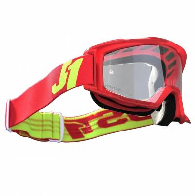 Just1 Brille Vitro Red Yellow Fluo