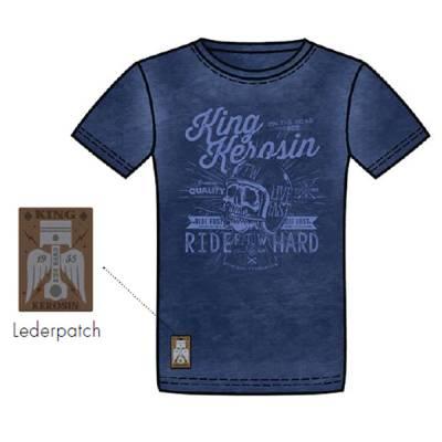 King Kerosin T-Shirt Oilwashed-Shirt, Made in Hell, Dark Navy