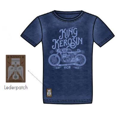 King Kerosin T-Shirt Oilwashed-Shirt, TCB, Dark Navy