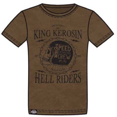 King Kerosin T-Shirt Speed Demons, braun