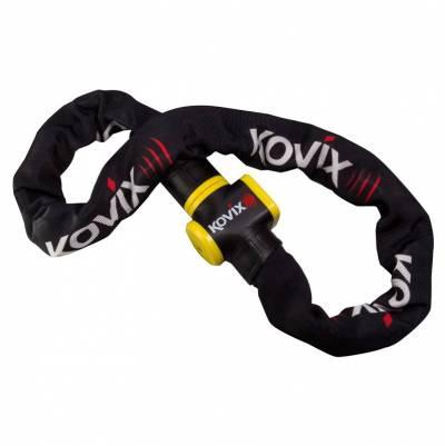 Kovix Alarmkettenschloss KCL10 - 150cm Schutzklasse 9, schwarz-weiß-rot