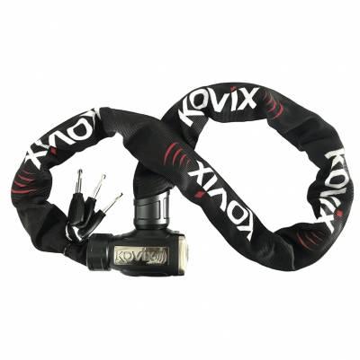 Kovix Alarmkettenschloss KCL8, schwarz-weiß-rot, 120 cm
