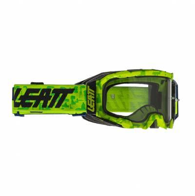 Leatt Crossbrille Velocity 5.5 neon lime-hellgrau