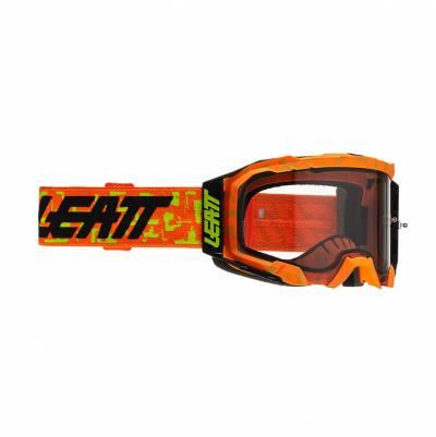 Leatt Crossbrille Velocity 5.5 neon orange-hellgrau