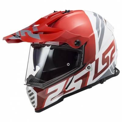 LS2 Helmets Endurohelm Pioneer Evo Evolve MX436, rot-weiß