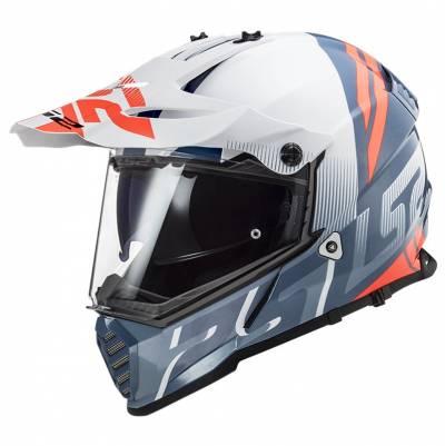 LS2 Helmets Endurohelm Pioneer Evo Evolve MX436, weiß-cobalt