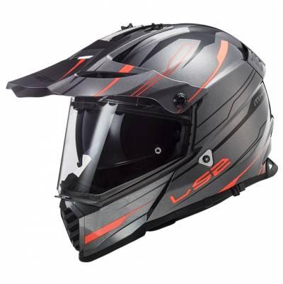 LS2 Helmets Endurohelm Pioneer Evo Knight MX436, titan-orange