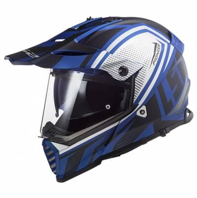 LS2 Helmets Endurohelm Pioneer Evo Master MX436, schwarz-blau matt