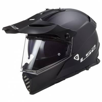 LS2 Helmets Endurohelm Pioneer Evo Solid MX436, schwarz matt